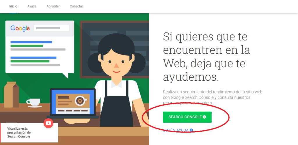 tutorial registro en search console