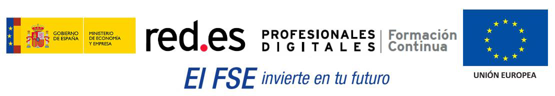 Gobierno de España - Ministerio de Economía y Empresa - red.es - Unión Europea - FSE