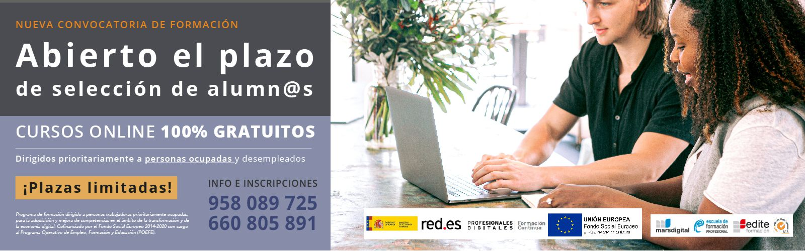 Convocatoria de cursos red.es 2019